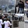Gaz lotsjellës, topa uji dhe gurë në qendër të Prishtinës (VIDEO)