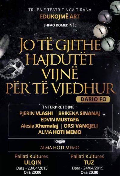 Trupa teatrale nga Tirana Edukojme art
